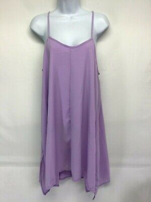 MAZE Women's Swimsuit Cover Up Lavender Lined Spaghetti Straps NWT Size - Lavender Cover