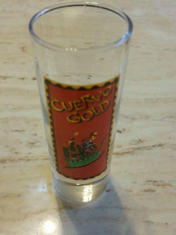 """Jose Cuervo Gold 4"""" Tall Shooter Shot Glass DOG LOGO"""