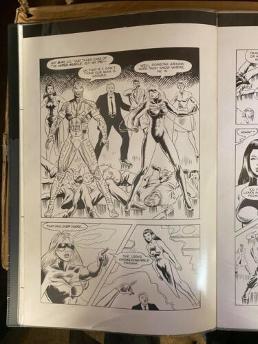 ELEMENTALS PAGE15 & 16 WITH DRAGONFLY ORIGINAL ART PAGE 11 x 17 #oa-1211