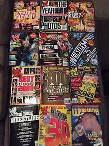 WWE Wrestling Collectible Magazines