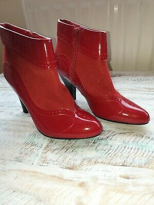 hush puppies red ankle boots Size Uk 4 New