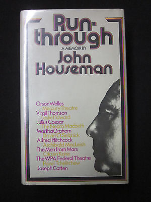 John Houseman Run Through Signed Autograph 1st Edition UK Book The Fog Scrooged