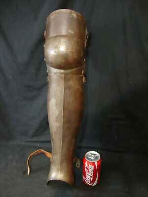 Vintage Medieval Knight Leg Armor - Iron Armour - ONE ONLY- Steampunk, Costume