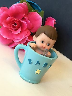 Baby Boy Baby Shower Cakes (1PC Baby Shower Boy Blue Cake Topper Decorations Figurines Party Favors)