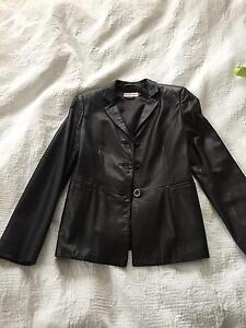 Women's Emporio Armarni leather jacket - black Neutral Bay North Sydney Area Preview