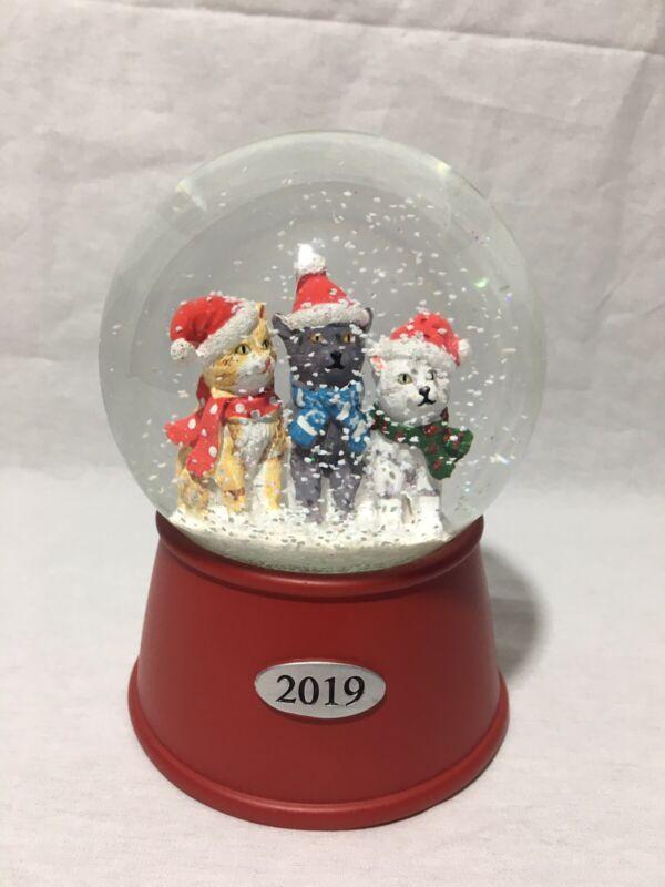 "2019 Brand New Musical Cats 6"" Snow Globe Holiday Water Globe"