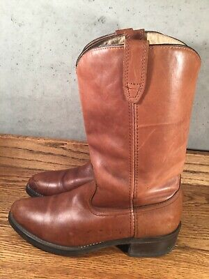 ACME Vintage Men's Brown Leather Cowboy Boots Size 10 D MADE IN USA