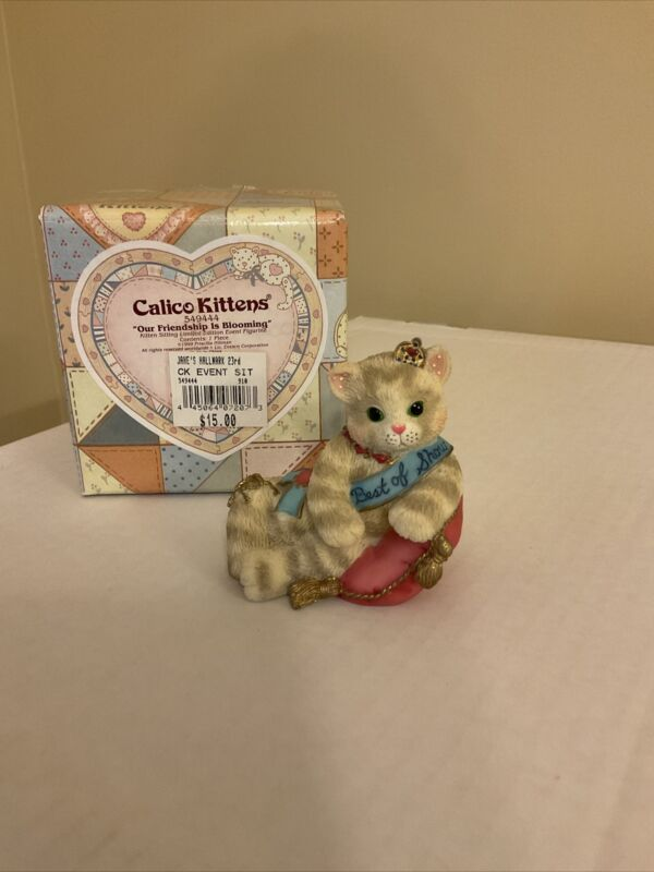"Calico Kittens #549444 ""Our Friendship is Blooming"" Event Piece 1999"