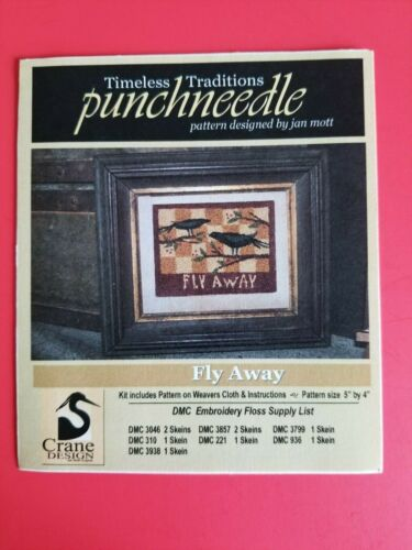 Timeless Traditions ~ PUNCH NEEDLE PATTERN ~ Fly Away