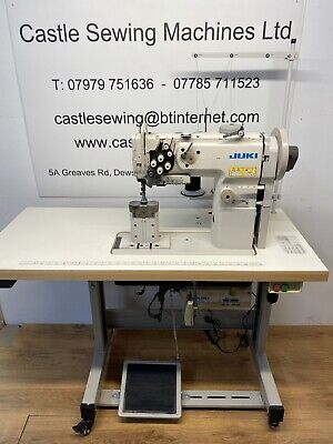 Juki PLC 1760 Twin Needle Walking Foot Post Bed Industrial Sewing Machine