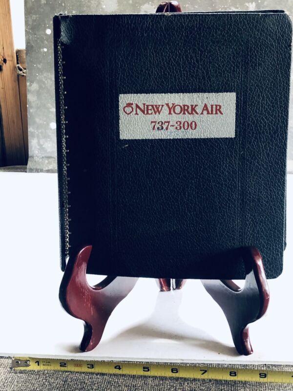VINTAGE NEW YORK AIR PIEDMONT B-737 OPERATIONS MANUAL NOV 27 1981