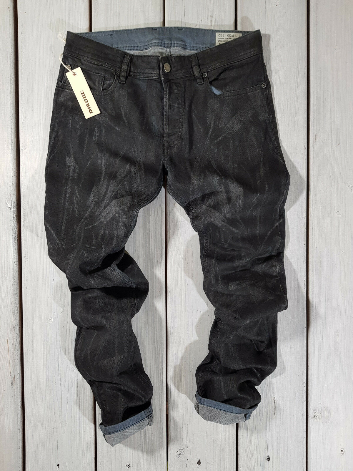 DIESEL Sleenker 0842Q Jeans Denim Uomo Slim Fit Skinny