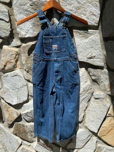 Carhartt Kids Boys Girls Bib Overalls Master Cloth Sanforized 100% Cotton Size 5