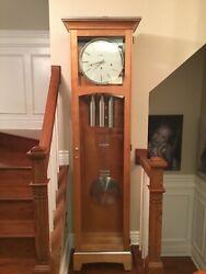 Howard Miller grand father modern clock (Urban Floor) Model #610-865 msrp $3000