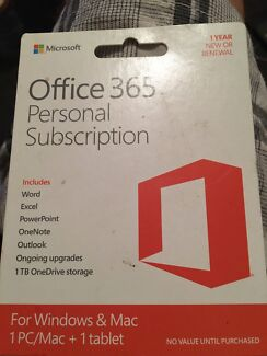 Microsoft Office 365 Home or Personal 1 year subscription