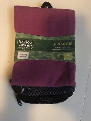 PACKTOWL MICOFIBER TOWEL MEDIUM 12x 21 Inch Pink