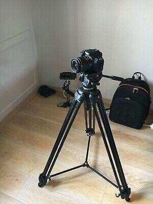 Kit video:Canon 200D(used 2x)+super tripod+glidecam+gopro+canon lense f/1.8 50mm