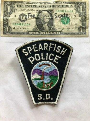 Rare old Spearfish South Dakota Police Patch un-sewn in great shape