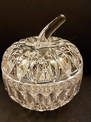 Candy Apple Boxen ( Clear Glass Apple Trinket Box Candy Jar with Lid 4