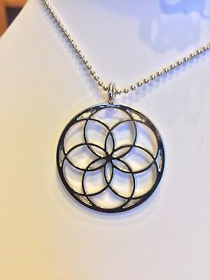 Seed of Life Geometric Pendant Necklace Healing Jewelry New Age Metaphysical