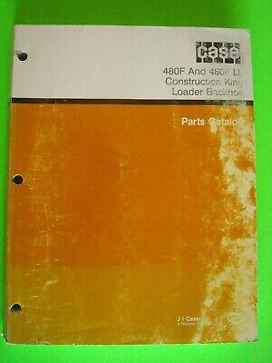 Case 480f 480f Ll Construction King Loader Backhoe Parts Catalog 8-6220