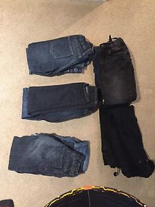 Boys size 5 or 5T blue jeans.  10 pairs lightly used $25.