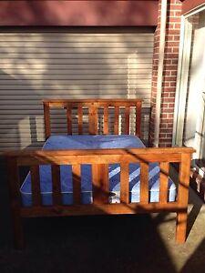 Timber double bed and mattress Ballarat North Ballarat City Preview