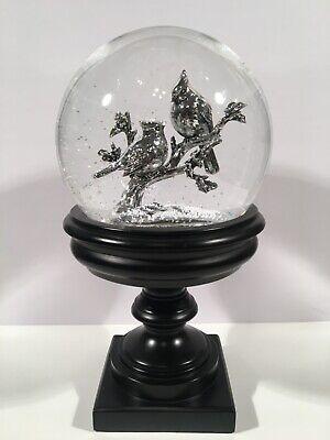 Costco Water Globe/ Snow Globe w/ light & blower - Birds, cardinals, Christmas