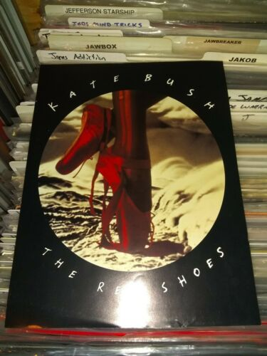 KATE BUSH 2-sided 1993 PROMO DISPLAY ADVERT from THE RED SHOES mint condition