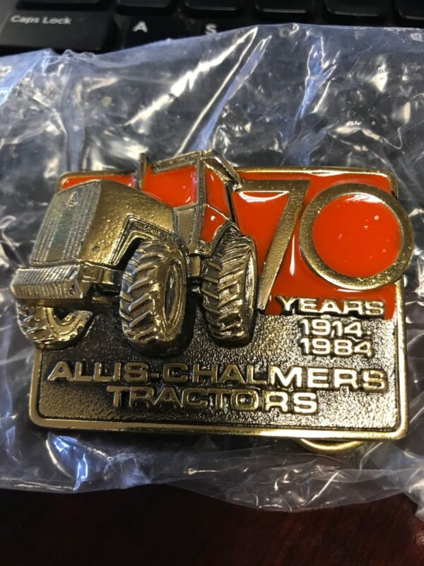 1984 ALLIS-CHALMERS 70 Tractor Brass BELT BUCKLE...Limited Edition