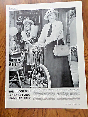 1940 Theatre Ad  Ethel Barrymore The Corn is Green
