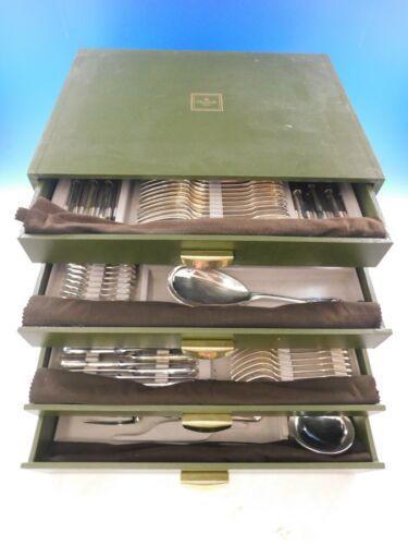 Vendome Arcantia Christofle Silverplate Flatware Set 12 Service 147 pcs Dinner