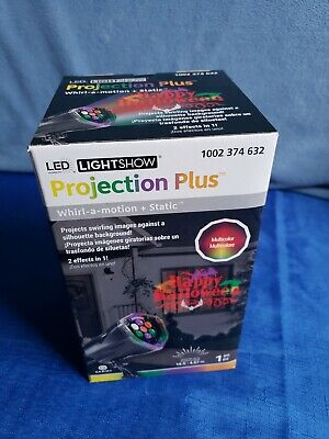 Led Lightshow Projection Plus, Whirl-a-motion and Static, Happy Halloween