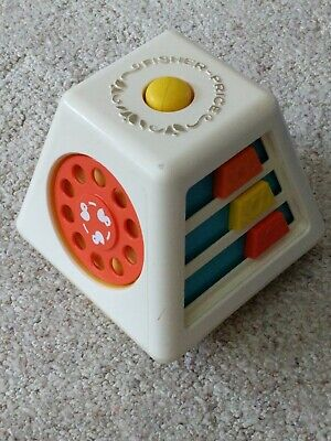 Vintage 1978 Fisher Price Toys 156 Turn & Learn Activity Center For Baby Toddler