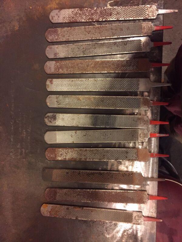 15 used horseshoers rasp/files knife maker steel/wood Working