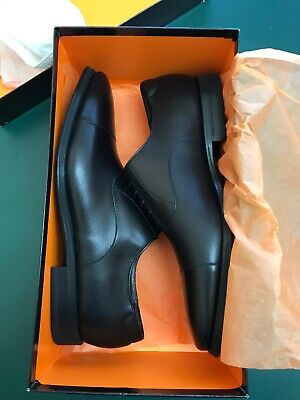 NEW NIB Magnanni Salamanca Oxford Black Leather Cap Toe Lace Up Shoes Size Sz 11