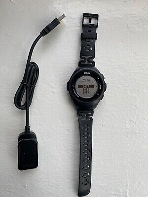 Epson ProSense 57 GPS Running Watch With Heart Rate Monitor & Charger - Used