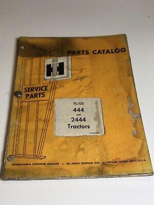 International Harvester 444 And 2444 Tractors Parts Catalog  Tc-125 June 1970
