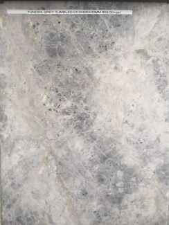 Tundra Grey Marble Tumbled Pavers 610x406x30mm