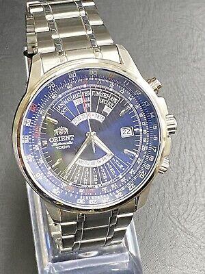 Orient Perpetual Calendar Blue Dial Stainless Steel Men's Watch FEU07008DX