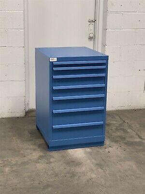 Used Lista 7 Drawer 22 Wide 36 Tall Cabinet Industrial Tool Storage 2202 Vidmar