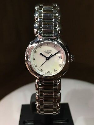 NEW Authentic LONGINES PRIMALUNA L8.110.4 24MM S/S  Box/Papers