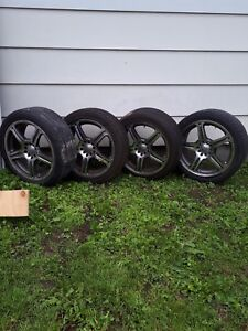 Tires (215 x 45 x 17) and aluminum rims 17""