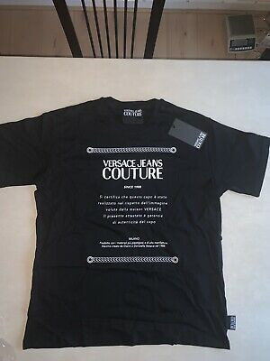 Versace Jeans Couture Black T Shirt Size L Brand New  RRP: £99.00