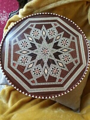 Round Marquetry  Tray