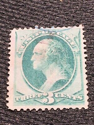 US Stamp Scott #136a Used 3 cent Washington c.1870 with I Grill CV$200