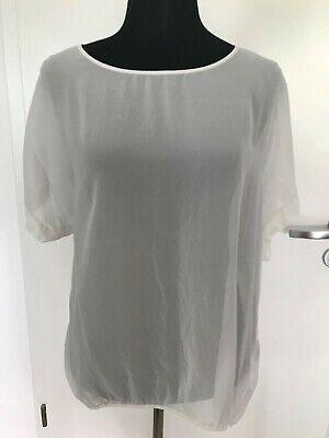 HALLHUBER Donna Seidenbluse Top Shirt, creme, 44