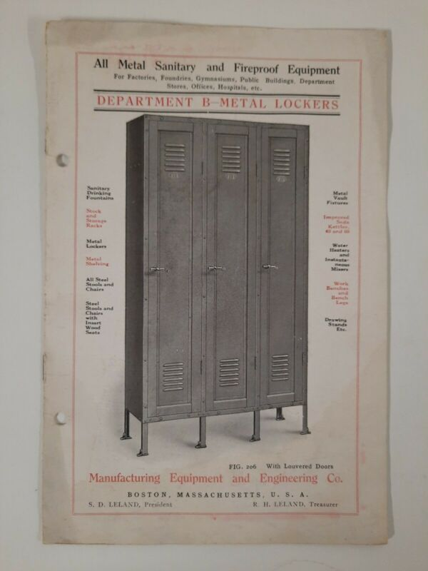 METAL LOCKERS  Manufacturing Equipment And Engineering Co BOSTON 1900s History