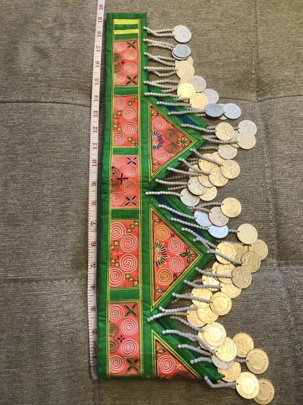Hmong Hlab Embroidery With Coins