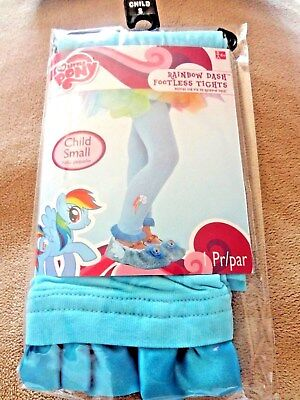 """MY LITTLE PONY """"RAINBOW DASH""""  Footless Tights Sz.Child Sz.Sm/Med 4+ to 55lbs  for sale  USA"""